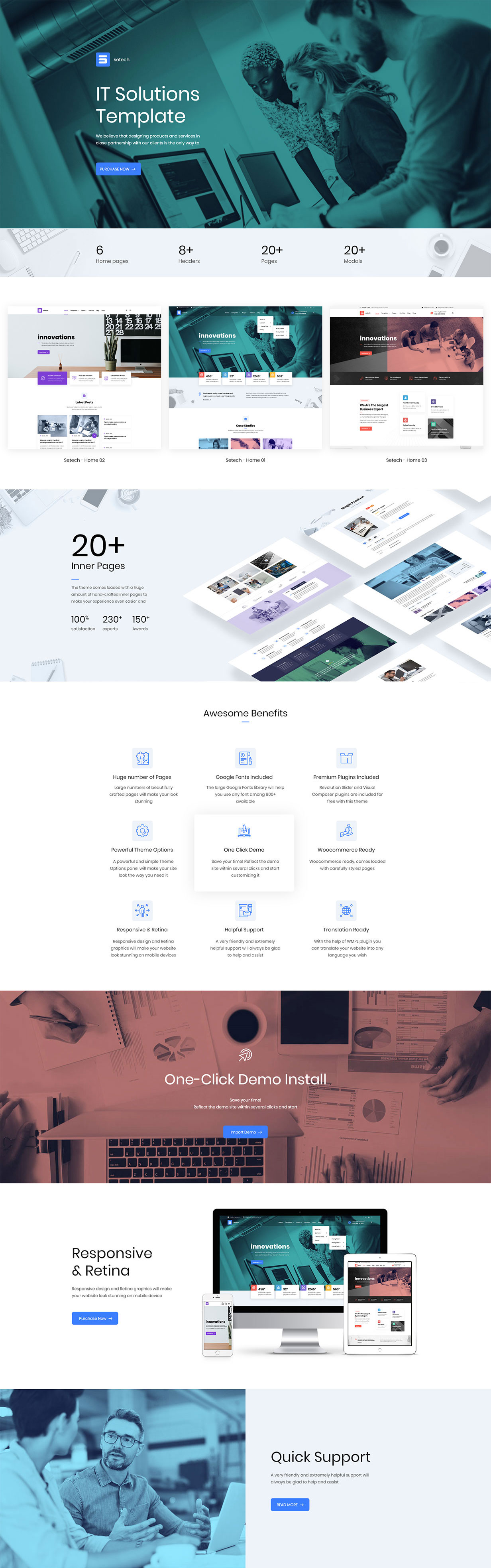 Setech - IT Services and Solutions WordPress Theme