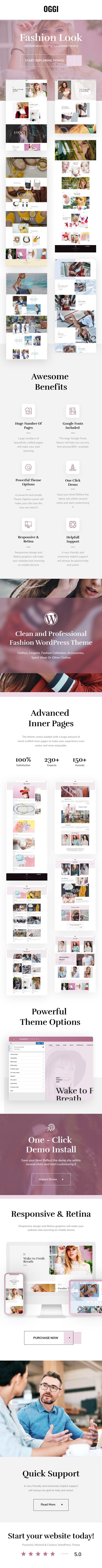 OGGI - Tema WooCommerce para tienda de moda